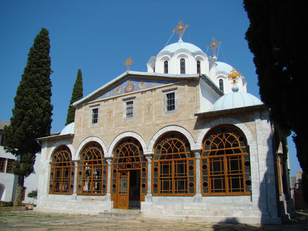 """Biserica Schitului """"Prodromu"""" - vedere din faţă"""