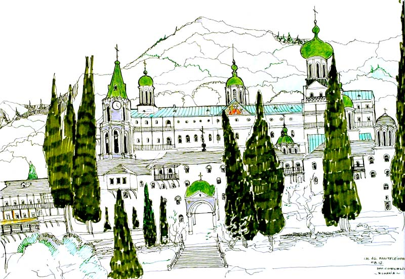 Sf. Mănăstire Pantelimon - (vedere exterioară)