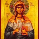 ACATISTUL SFINTEI MARI MUCENIŢE TECLA, CEA ÎNTOCMAI CU APOSTOLII